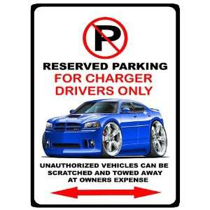 2005 10 Dodge Charger SRT8 Muscle Car toon No Parking Sign