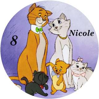 ARISTOCATS / PERSONALISED ROUND EDIBLE ICING SHEET CAKE TOPPERS