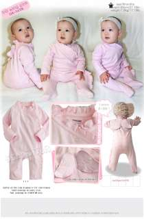 Korea Lovely Frill Wing Baby Boy Girl Infant Cotton Clothing / OA 1079