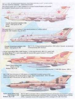 Print Scale Decals 1/72 MIKOYAN MiG 21 FISHBED Fighter