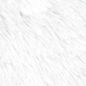 58 Wide Super Soft Chenille Fur White Fabric By The Yard