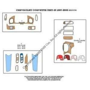 Chevrolet Corvette (set 2) Dash Trim Kit 97 03   25 pieces