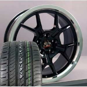 18 Fits Mustang (R) GT4 Style Wheels tires   Black 18x9