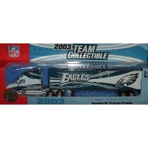 Philadelphia Eagles Fleer Diecast Tractor Trailer 2003 1/80 Scale NFL