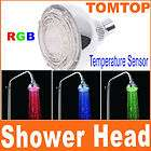 Romantic 3 Colors LED Light Bathroom Shower Head RGB
