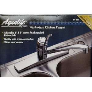 Waxman 0442000A Classic Single Handle Kitchen Faucet