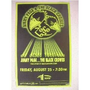 2 The Black Crowes Jimmy Page Hndbl Poster Led Zeppelin