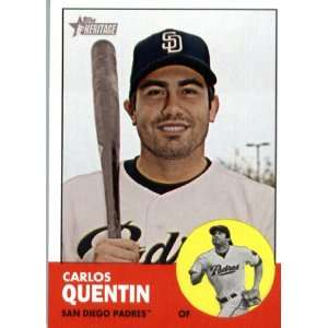 2012 Topps Heritage 254 Carlos Quentin   San Diego Padres (ENCASED MLB