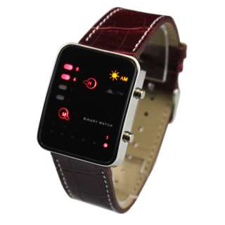 Fashion Unisex Mens Ladies Womens Binary Digital LED Wrist Sport Watch