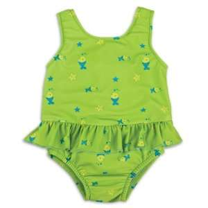 Bambino Swimsuit Nappies Lime Fish Extra Large 12 15 Kgs. Baby