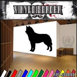 Dogs Working Siberian Husky 2 Vinyl Decal Wall Art Sticker