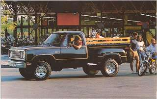 1976 79 Dodge WARLOCK Power Wagon DEALER PROMO Postcard