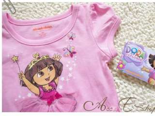 DORA THE EXPLORER Girl Kids 18M 5Y Fairy Costume Party Summer Dress