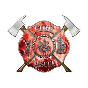 Firefighter Fire Rescue Firefighter Decal Inferno Red 6