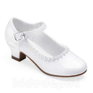 Flower GIRLS Rhinestone KIDS DRESS SHOES Pageant Formal Wedding Party