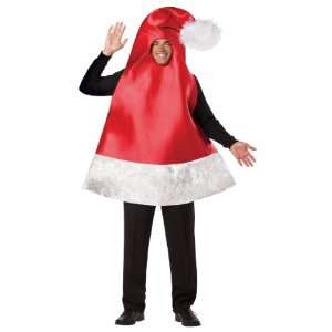 Lets Party By Rasta Imposta Santa Hat Adult Costume / Red