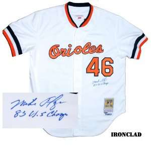 Mike Flanagan Autographed 1983 Orioles Jersey w/ 83 WS