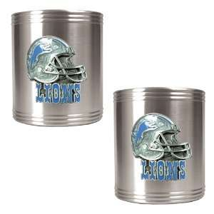 Detroit Lions NFL 2pc Stainless Steel Can Holder Set