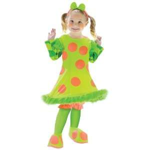 Party By FunWorld Lolli The Clown Toddler Costume / Green   Size 3T 4T