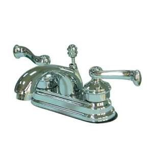 LAVATORY FAUCET W/BRASS POU UP Polished Chrome Finish