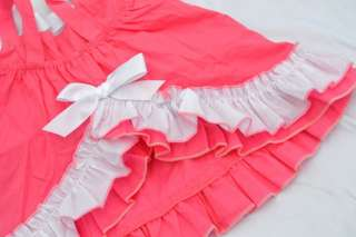 pink Girl Baby Ruffle Top Dress + Pants Set New Bloomers Nappy Cover