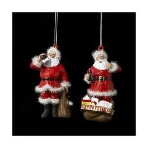 Coca Cola Kurt Adler Santa Claus Ornament Pair Everything