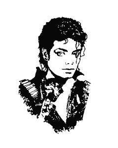 Michael Jackson Silhouette Cross Stitch Pattern Chart