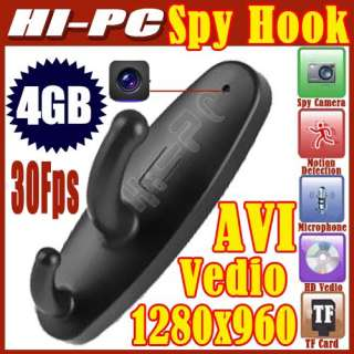 1280*960 Mini Clothes Hook Spy Camera Cam Hidden Pinhole DVR Dv 30Fps