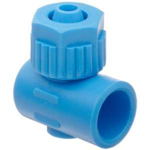 Tube Fitting, Single Banjo Body, Blue, 6 mm Tube OD x 1/4 Bore (Pack