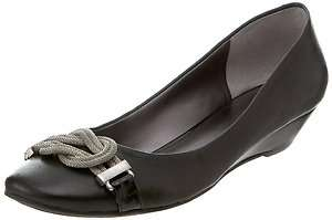 Nine West Womens Clayanne Black Leather Flat