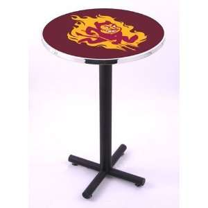 Arizona State University Round Pub Table With Black Base
