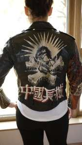Unbelievable Great China Wall Harley Davidson Jacket Skull Mohawk