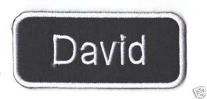 Name Tag David Logo EMBROIDERED Iron Patch T Shirt Sew