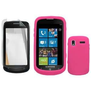 iNcido Brand Samsung Cetus i917 Combo Trans. Hot Pink Silicon Skin