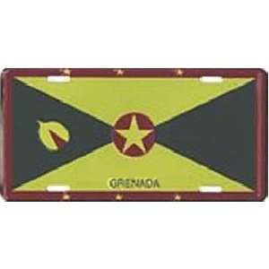 Grenada Country Flag Embossed Metal License Plate Auto Car