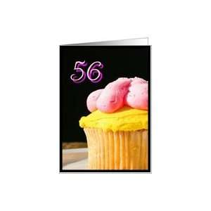 Happy 56th Birthday muffin Card Toys & Games