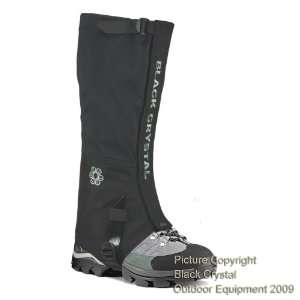 Black Crystal Hiking Gaiters Waterproof Breathable Nylon Womens Black