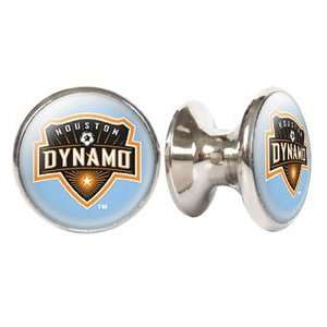 Houston Dynamo MLS Stainless Steel Cabinet Knobs / Drawer Pulls (2
