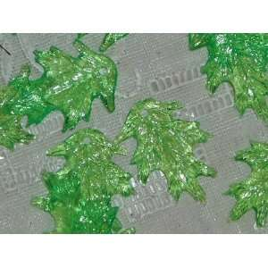 Sheer Spring Green Oak Leaf Lucite Beads Arts, Crafts