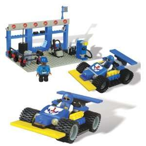 Best Lock 300 Piece Blue Racing Car Toys & Games