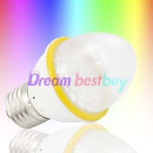 E27 LED Multi Color Change Flashing RGB Light Bulb Lamp