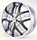 CHROME BLACK INSERT RIMS WHEELS DODGE RAM 1500 PICKUP LIFTED RAIDER
