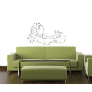 LADY&THE TRAMP Wall MURAL Vinyl Decal Sticker