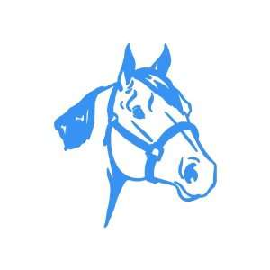 Quarter Horse medium 7 Tall LIGHT BLUE vinyl window decal