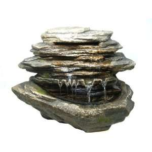 Large Rock Stone LED Indoor Table Top Water Fountain