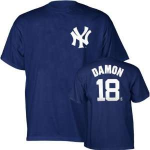 Johnny Damon Navy Majestic Name and Number New York Yankees