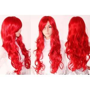 Long Party Wig, Red Wine Wig, Halloween Devil Costume Party Dress