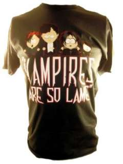 South Park Mens T Shirt   Goth Kids Vampires Are Lame