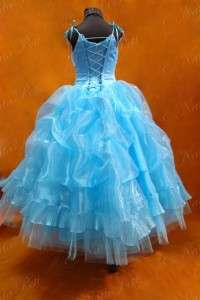 NEW PAGEANT FLOWER GIRL HOLIDAY PRINCESS DRESS 3957 TURQUOISE SIZE 6 8
