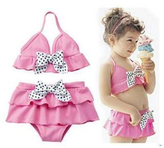 Pink Girls Swimsuit Swimwear Bikini SET 2T 3T 4T 5T 6T